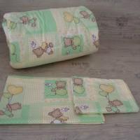 Олекотен комплект за бебе 100/150 Зелено Мечета