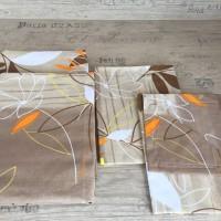 Комплект чаршафи от памук  Кафяви листа