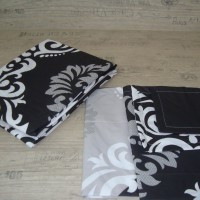 Комплект чаршафи от ранфорс - Черно Бяло