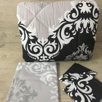Олекотен комплект от ранфорс - Черно Бяло