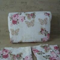 Олекотен комплект от памук - Пеперуди
