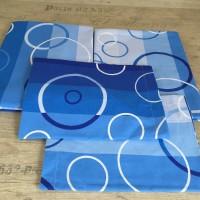 Комплект чаршафи  от ранфорс  Синьо кръгове