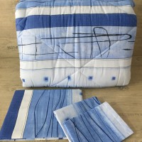 Олекотен комплект от памук - Синьо черти