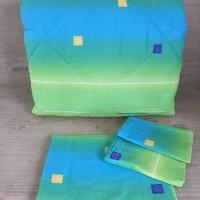 Олекотен комплект от памук - Зелено преливащо