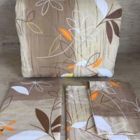 Олекотен комплект от памук   Кафяви листа