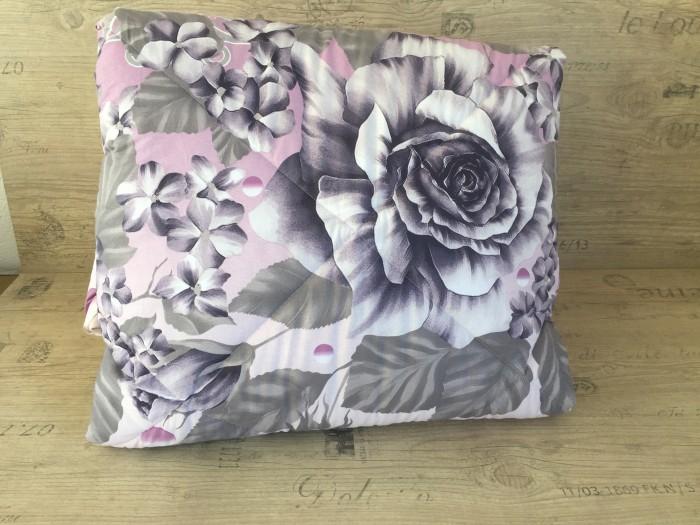 Олекотен комплект от ранфорс - Лилави рози - наподобяващ  3D ефект