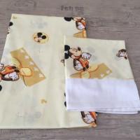 Комплект чаршафи за бебе от ранфорс Мики Маус жълто