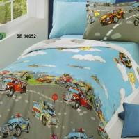 Комплект чаршафи за деца от ранфорс- Пожарни
